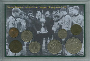 Wolverhampton Wanderers Wolves FC League Champs Champions Coin Fan Gift Set 1954