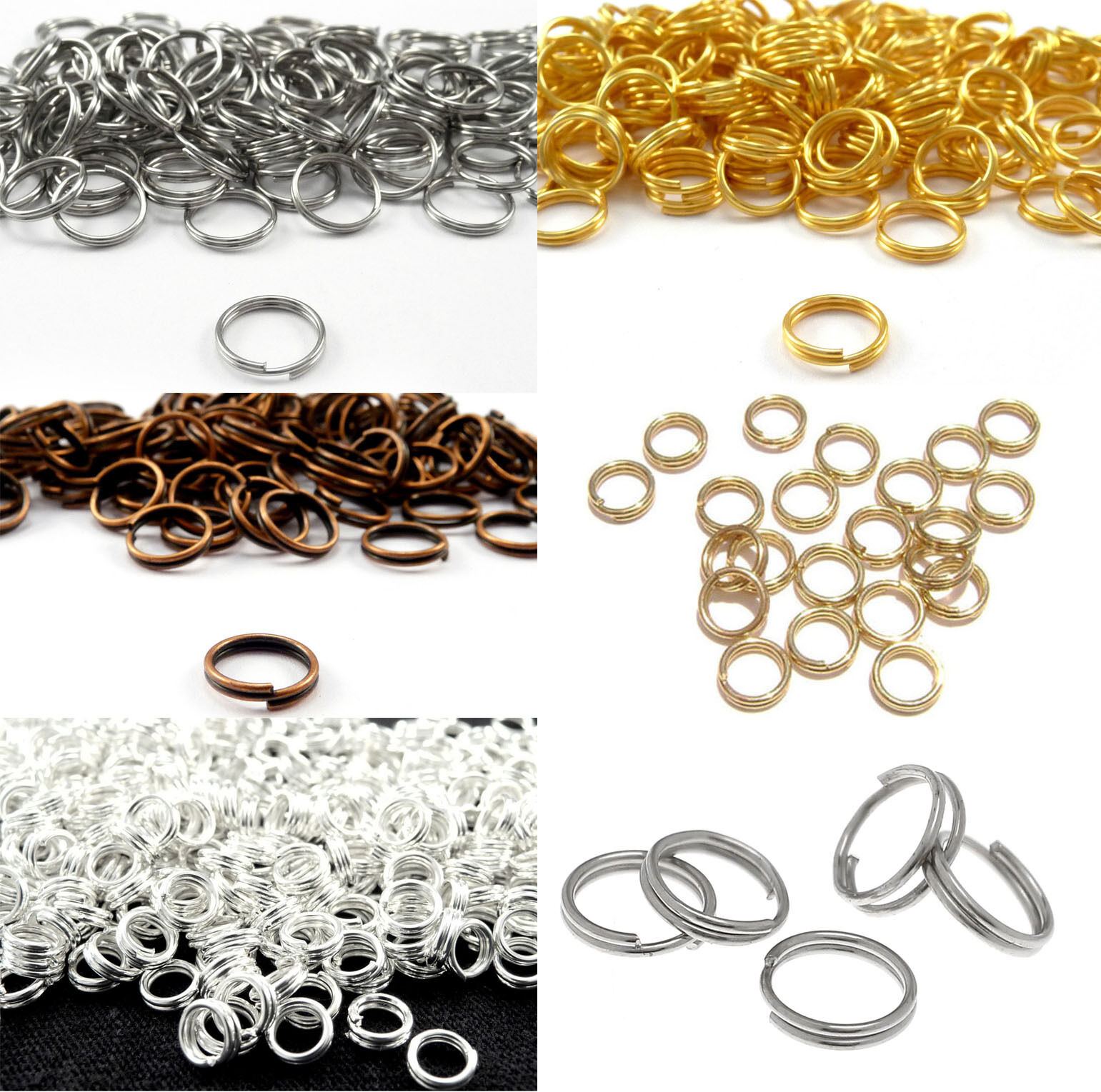 Double Loop O-ring Split Open Jump Rings Link Connector Hoop DIY Makings 4-14mm