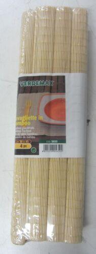 4Pz Tischsets in Bambus Braun Klar 30x45 cm Verdemax 5650 Tischdecke Suchi