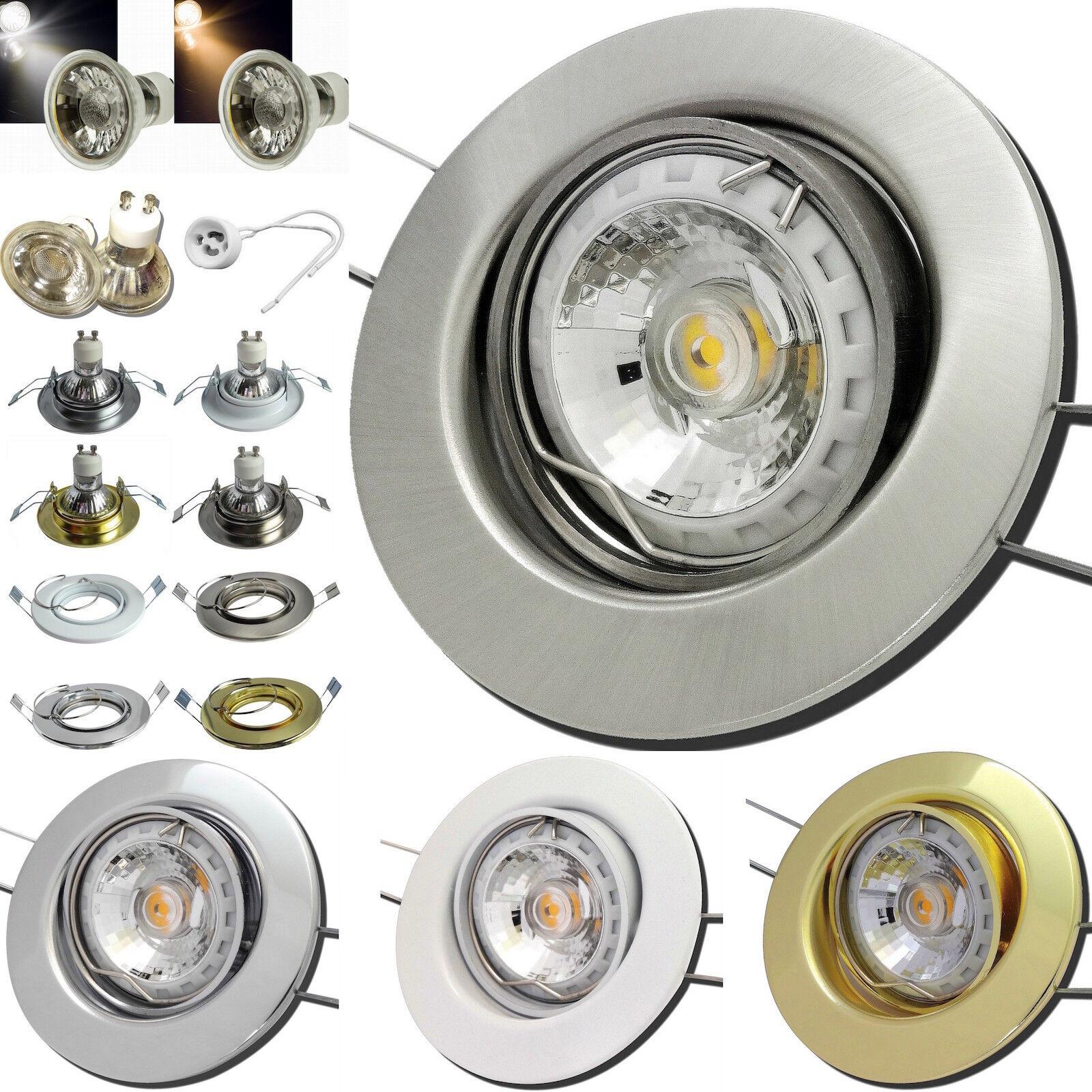 LED Einbauspots Lucy 230V   7W   Stufenlos Dimmbar   Bohrloch 68mm   Gu10 Lampen