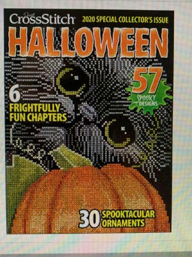 Just CrossStitch Halloween 2020 Magazine free embellishment//free ship