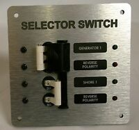 Marine Electrical Panel Generator & Shore Power Selector Switch 50 Amp