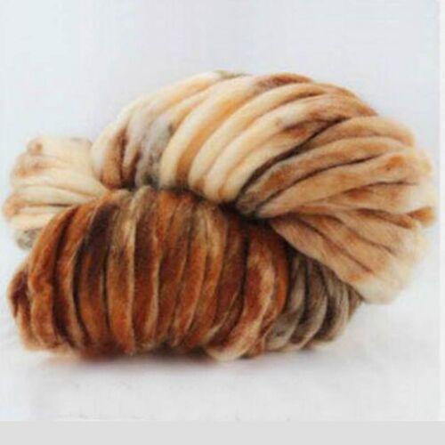 Gradient Chunky Wool Yarn Super Soft Bulky Arm Knitting Wool Roving Crocheting