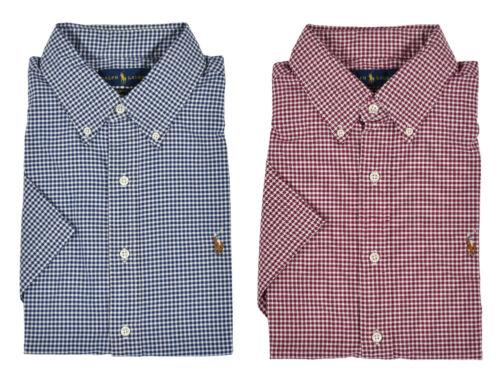 Ralph Lauren Polo Slim Fit Short Sleeve Gingham Oxford Shirt New