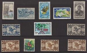 France-new-Caledonia-stamp-group-mint-and-used
