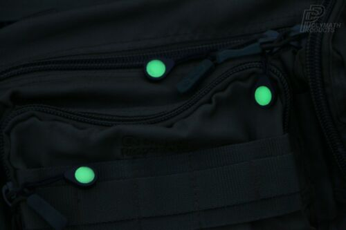 GLO ZIP Glow In The Dark Zipper Pulls Replacement Cord Jacket Coat Tent UK-Made