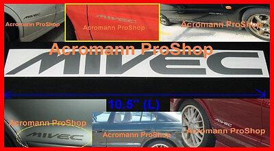 """2x 10.5"""" 26.7cm MIVEC decal sticker mitsubishi Mirage Cedia Carisma FTO GPX Evo"""