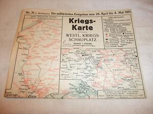 L Kriegskarte Landkarte Chronik Kriegsschauplätze 1.weltkrieg 1wk April/mai 1915 SorgfäLtig AusgewäHlte Materialien Literatur Antiquitäten & Kunst