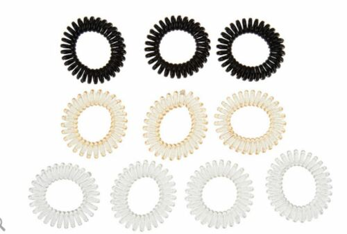 Set of 10 Traceless Spiral Hair Ties by Lori Greiner~A305982~Choice of Colors