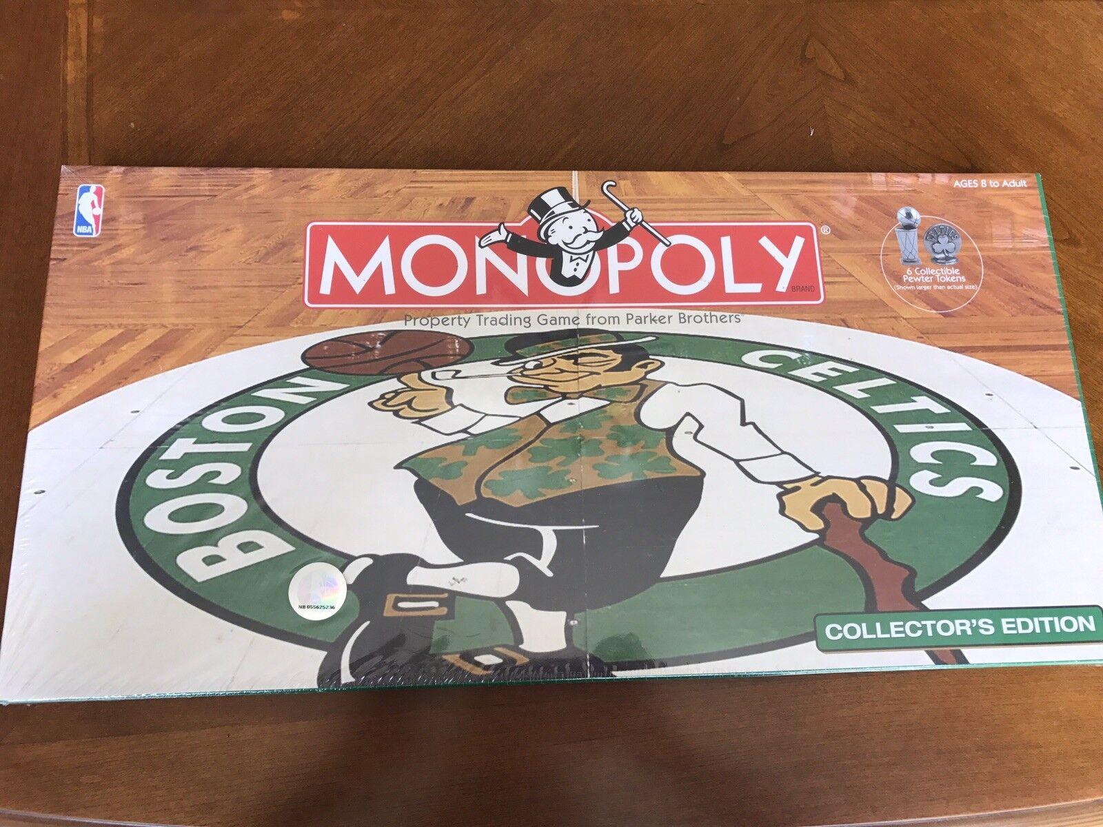 Brand New Rare dans l'emballage Celtics Monopoly Board Game