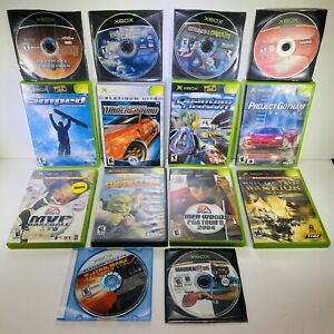 14 Game Xbox Lot-Ultimate Spider-man,The Haunted Mansion,NFS Underground,Amped,&