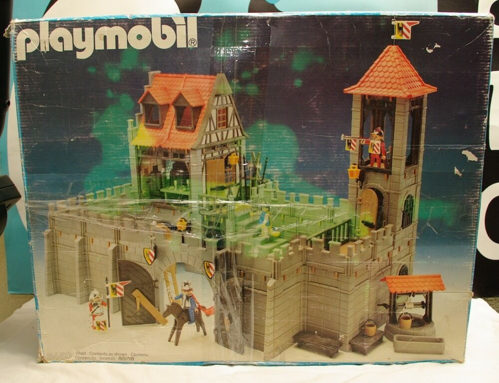 Playmobil Vintage Set 3450 Large Playset Missing Parts Many Extras Extras Extras Awesome d21746