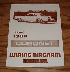 1968 Dodge Coronet Wiring Diagram Manual 68 | eBay