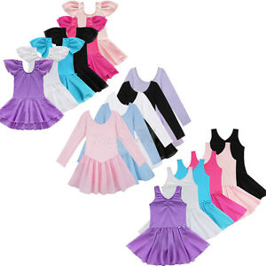 Girl Toddler Kids Gymnastics Ballet Dance Wear Dress Leotard Tutu Skirt Costumes
