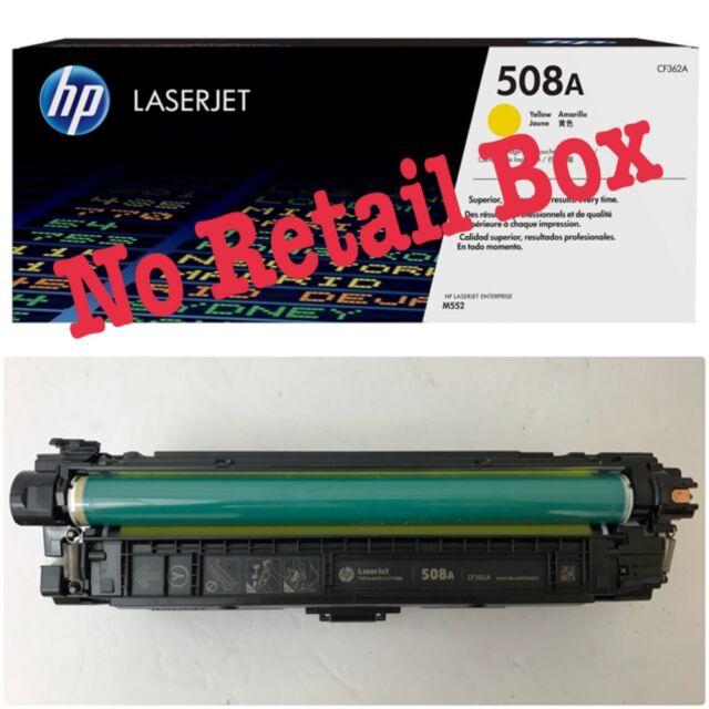 Genuine HP 508A CF362A Yellow Toner Cartridge LaserJet M577dn M553 100%