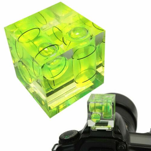 Tres 3 ejes Triple Burbuja Nivel De Burbuja Zapata montar Flash para Cámara Réflex Digital