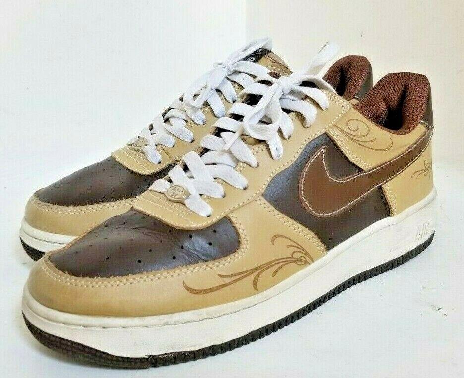 Nike Air Force 1 MR. Cartoon Brown Pride 221 AF1 MENS SIZE 7.5 GUC!!!