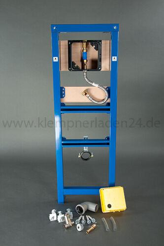 Wisa XS Urinal Vorwandelement mit Einbaudruckspüler und Betätigung Argos weiß