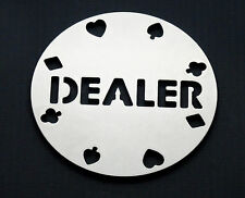 POKER Stainless Steel Dealer Button Chip token Card Game Gift Present