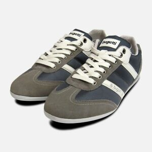 01db5282dc4f Image is loading Mens-Bugatti-Sneakers-in-Grey-Suede-Leather-Designer-
