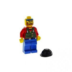1x-Lego-Figur-Rock-Raiders-Bandit-Torso-rot-bedruckt-Weste-gruen-rck002