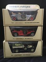 Matchbox Models Of Yesteryear Lot: Crossley, Rolls Royce Silver Ghost, Simplex