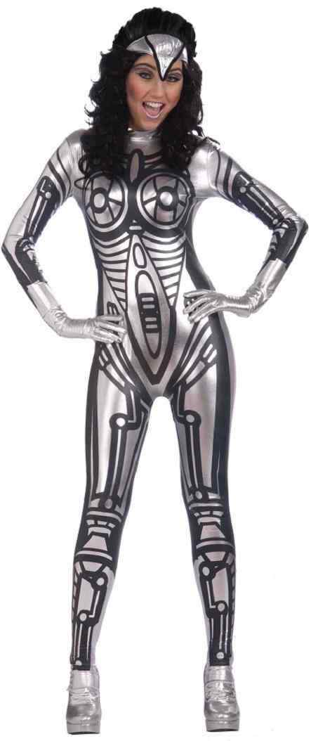 Robot Female Cyborg Droid Space Android Fancy Dress Halloween Adult Costume
