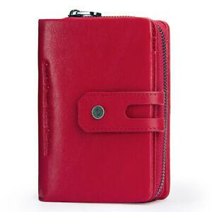 Women-Genuine-Leather-Wallet-Short-Bifold-Card-Holder-RFID-Blocking-Pocket-Purse