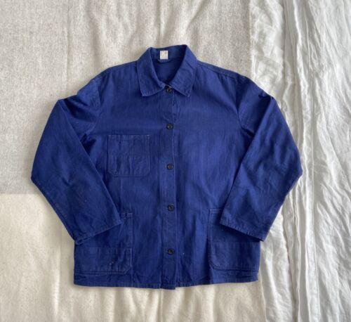 1940s French Workwear Moleskin Chore Jacket Indigo
