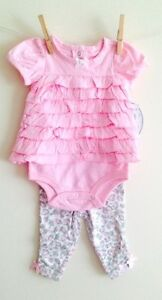 New-BNWT-baby-girls-pink-set-leggings-next-party-age-3-6-6-9-9-12-12-18-18-24