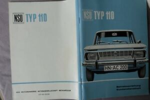 NSU-TYPE-110-manuel-sans-proprietaire-Entree-RARE-environ-1965-NOS