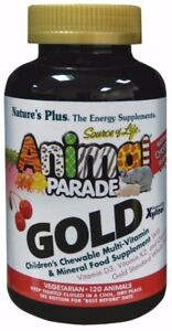 Nature-039-s-plus-Animal-Parade-Gold-120-Tablets-Natural-Cherry-Flavour