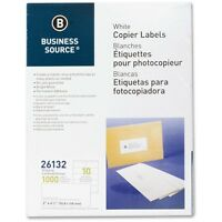 Business Source Shipping Labels 2x4-1/4 1000/pk White 26132 on sale
