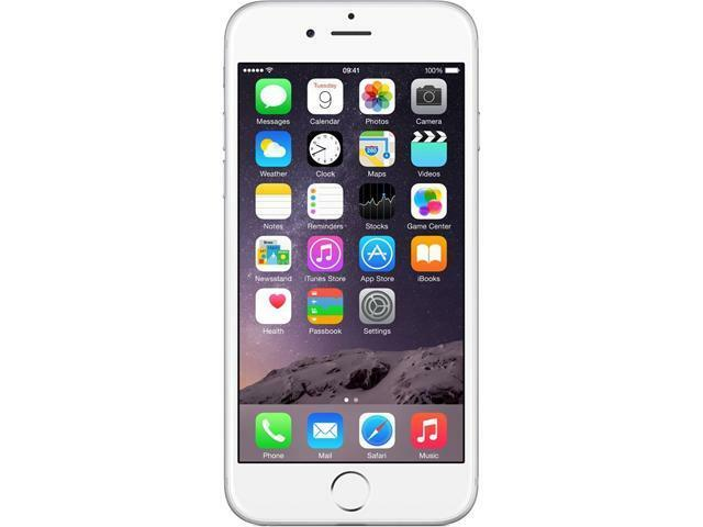 Apple iPhone 6 16GB 4G LTE Silver Unlocked GSM 8 MP Camera Smartphone, B+ Grade
