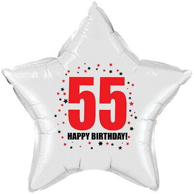 55th Birthday Party Supplies Age 55 HAPPY BIRTHDAY STAR BALLOON