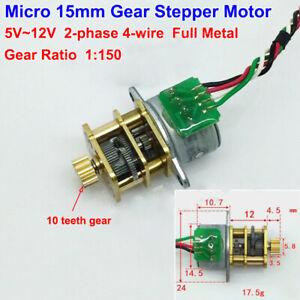 Mini-15mm-Full-Metal-Gear-2-phase-4-wire-Stepper-Motor-DC-5V-12V-HOT0233-1-150