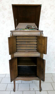 Intellective Schrank Grammofon Thorens ~ 20s 30s Art Deco Grammophone To Enjoy High Reputation In The International Market Grignard Iris