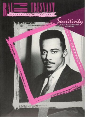 "Ralph Tresvant ""Sensitivity"" Sheet Music Piano/Vo<Wbr>Cal/Guitar/Cho<Wbr>Rds 1990 Rare <Wbr>New by Ebay Seller"