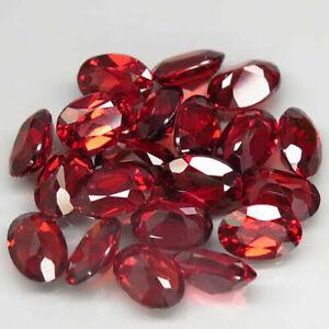 11.60 Carats 6x4mm 20pcs Lot NATURAL Rhodolite GARNET Orangish Red Africa Round