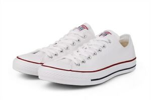 a08452ec220 Details about Converse Classic Chuck Taylor All Star Low M7652 Sneaker  White NEW Men Women