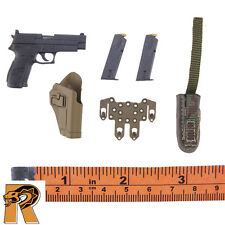 British Army Afghanistan - P226 Pistol w/ Holster Set - 1/6 Scale - DID Figures