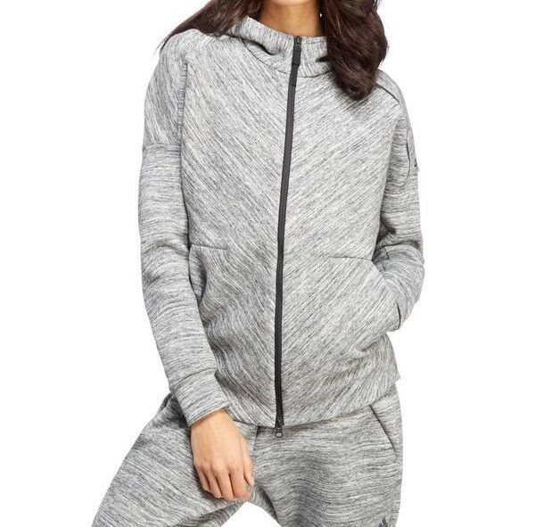 NEW Adidas Z.N.E Road Hoodie Grey Zip Womens Girls Size M RRP