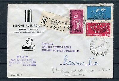 B5066 Weniger Teuer Einschreiben Firmenbrief Fiat Sezione Lubrificanti Dekorative Mif Motive