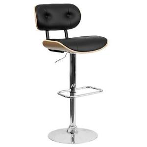 Wondrous Details About Flash Furniture Beech Bentwood Adjustable Height Bar Stool With Black Vinyl Seat Pabps2019 Chair Design Images Pabps2019Com