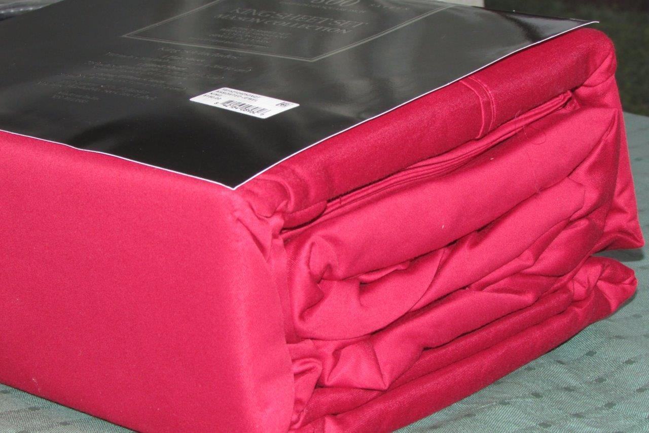 New Macys Mason Collection Luxury 800 Ct. Sateen Burgundy King Sheet Set rt  180
