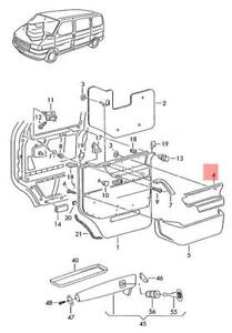 Genuine-VW-Eurovan-Transporter-door-trim-mid-section-7058671244PY