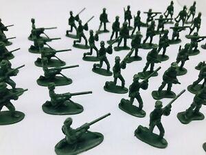 UK Supply 100 x Military Plastic Toy WW2 3.5cm Soldier  Army Men Model
