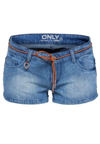 Only Damen Onlcoral Sl Dnm Shorts Pimkurze Hose Sommer Freizeit Clubwear