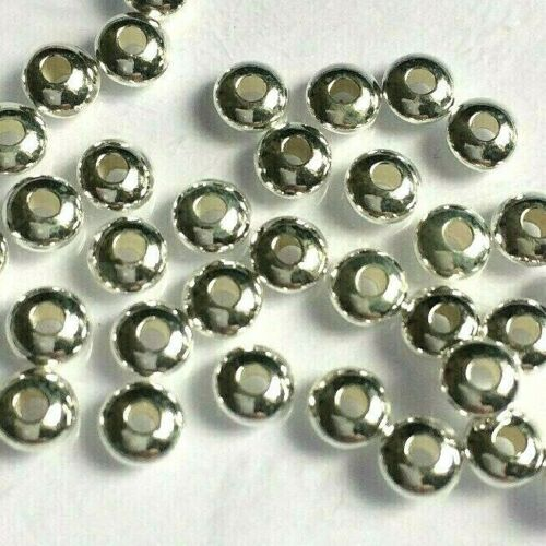 Size 5mm. 20 x 925 Solid Sterling Silver Saucer Disc Spacer Beads