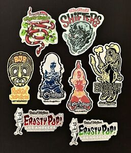 Rockin-Jelly-Bean-STICKERS-Decal-Group-Deal-On-8-Original-From-Poster-Artist-RJB